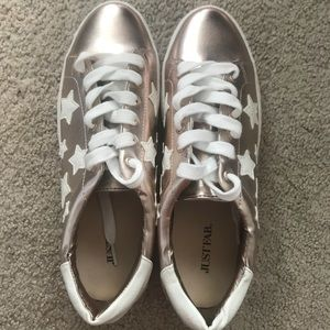 JustFab starred low-rise sneakers
